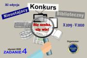 """Nieustający Konkurs Biblioteczny pod hasłem """"Się szuka, się wie!"""" – zadanie 4"""