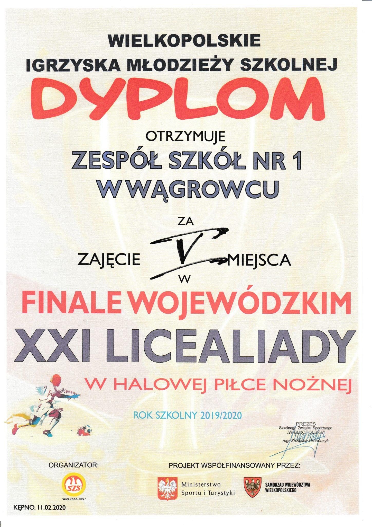 Halowa piłka Wielkopolska 11.02.2020 Kępno